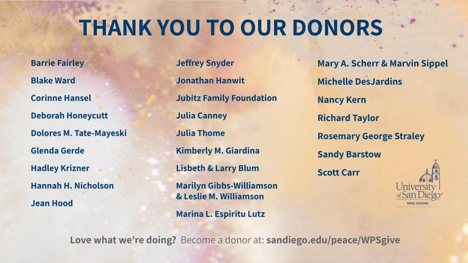 Donors of WPM