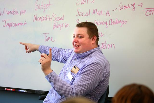 Image of Colton teaching
