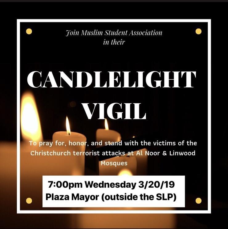 MSA Prayer Vigil - Wednesday, March 20, 2019 at 7 p.m.