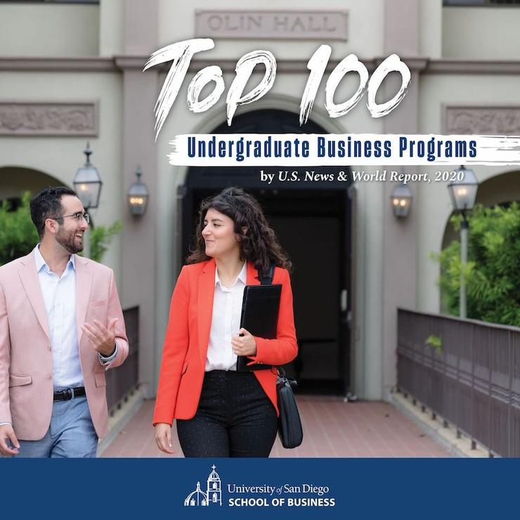 USD School of Business is Ranked in US News Top 100