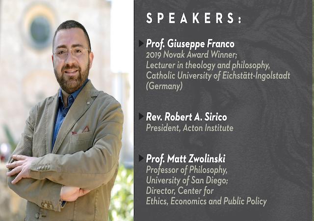 Event flyer with speaker information