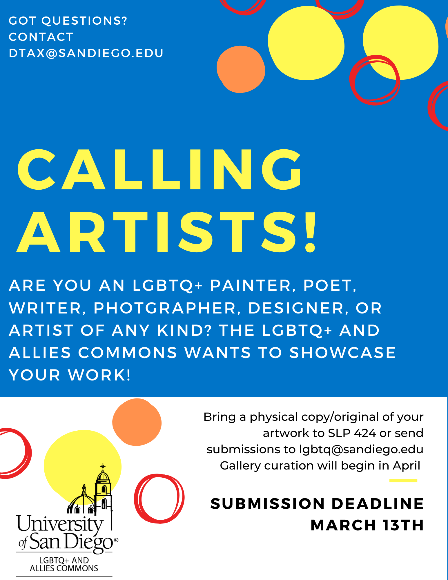 Are you an LGBTQ+ painter, poet, writer, photgrapher, designer, or artist of any kind? THe lgbtq+ and allies commons wants to showcase your work!
