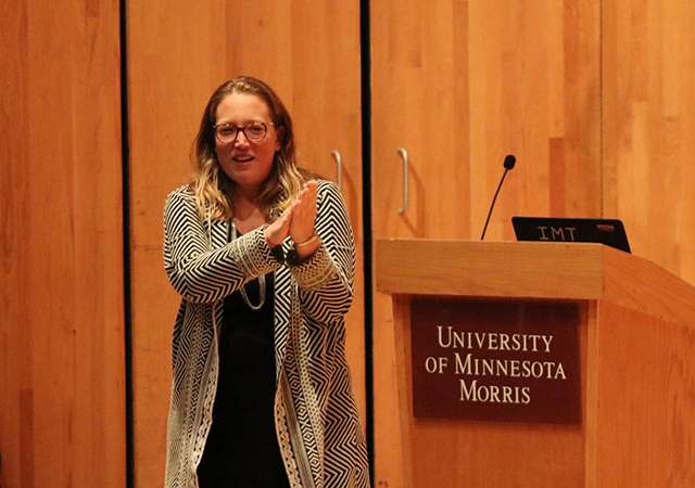Emilie Amrein Presenting at the University of Minnesota