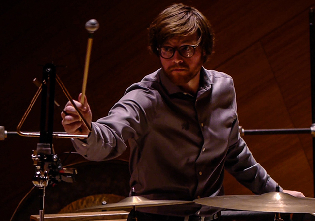 Percussionist Ryan Nestor Performing