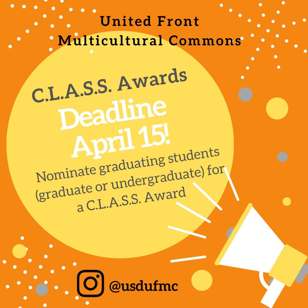 UFMC C.L.A.S.S. Awards Deadline Reminder