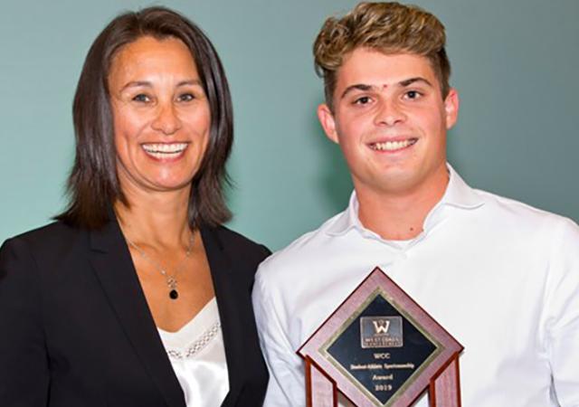 Garrett Kurtz, WCC Sportsmanship Award