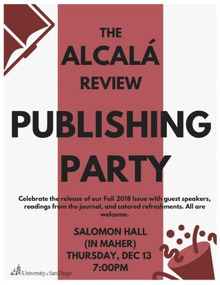 Alcala Review Publishing Party