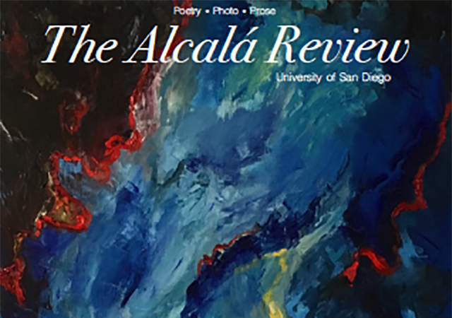 Cover of the current AR issue which is an abstract painting of layered dark pigment colors