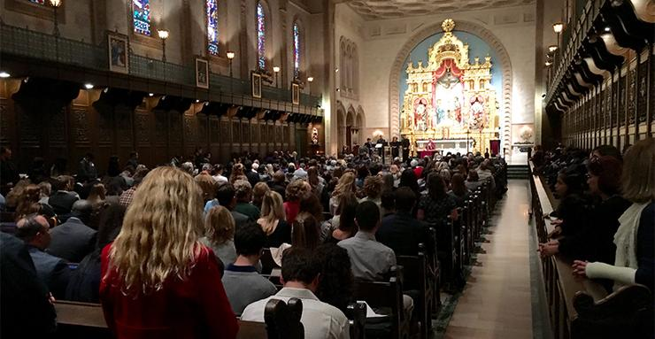 Collections at the Sunday night Masses in Founders Chapel on Sept. 17 and 24 supported Catholic Relief Services' work to aid and support those who have been impacted by earthquakes and hurricanes.