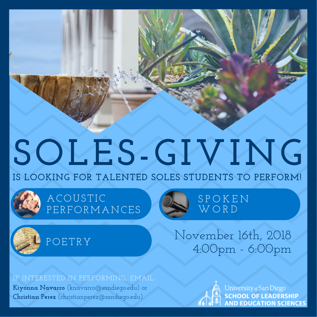 Soles-Giving Is looking for talent!