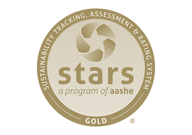 Gold rating logo from AASHE