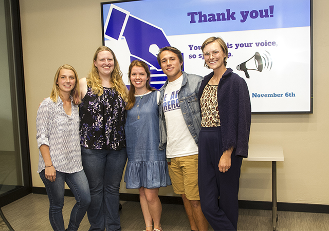 Humanities Center Student Board Voting 101 group