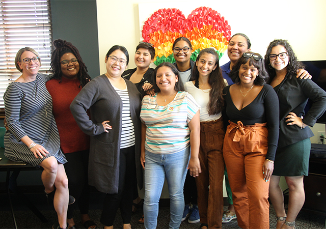 Members of the USD Womxn of Color Summit Planning Committee.