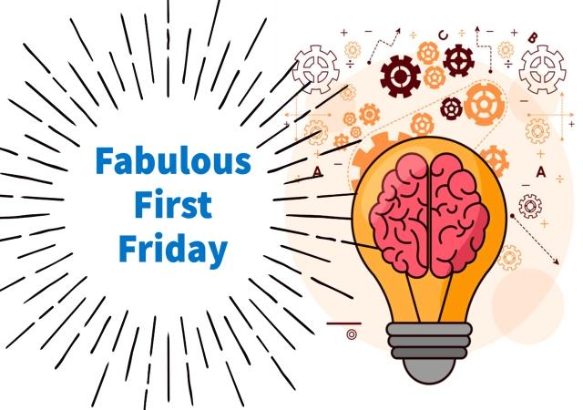 brain as a lightbulb. Fabulous First Friday.