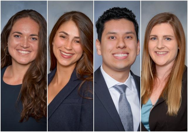 USD students AlyssaAlarab (2L), Lissette Argoud (2L), Alberto Corona (3L) and  Allison Washburn (2L).