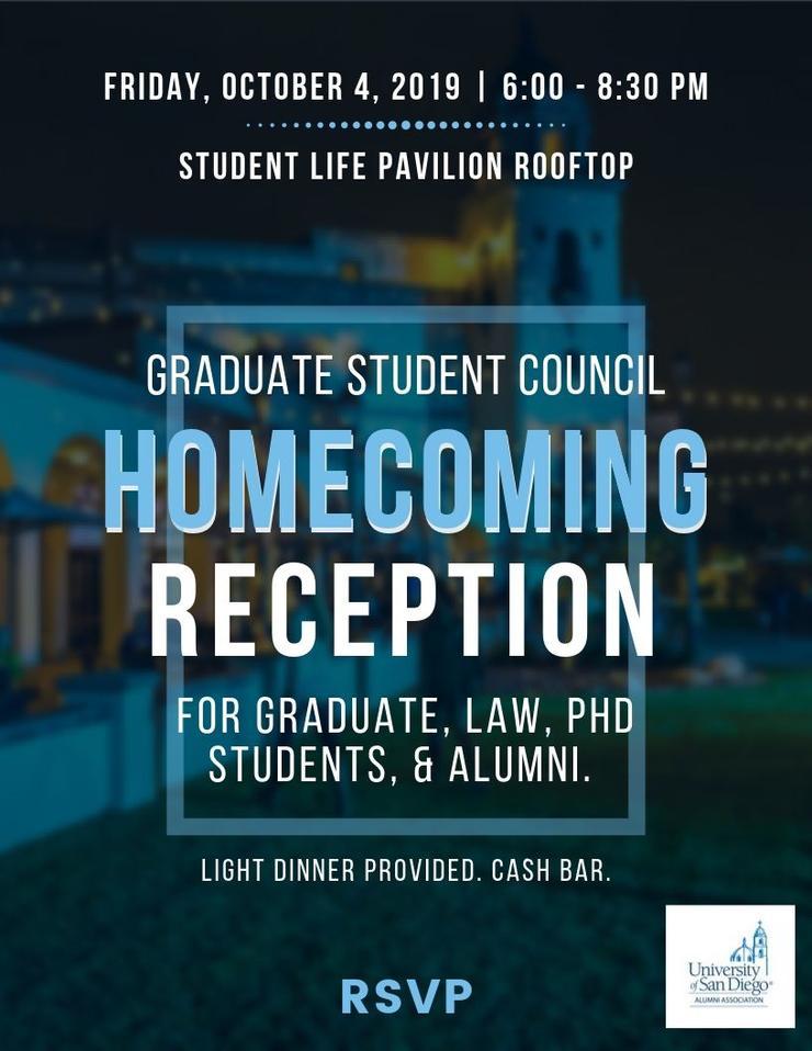 USD Graduate Student Life Homecoming Reception with Alumni Fyler