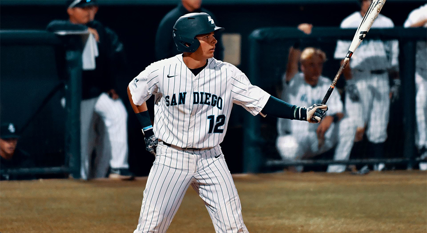 Adam Kerner is a top returning player for the USD Toreros baseball team in 2020. The team's season begins with a three-game set in Arizona this weekend.