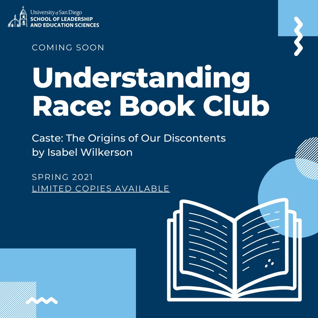 SOLES Understanding Race Book Club Announcement Flyer