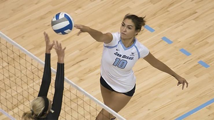Former USD volleyball standout Lauren Schad will play pro volleyball in France this year and will be a Nike N7 Ambassador, helping introduce sport to Native Americans and Aboriginals in North America.