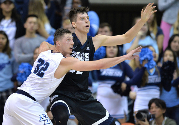 WCC Hoops: USD's Brett Bailey defending