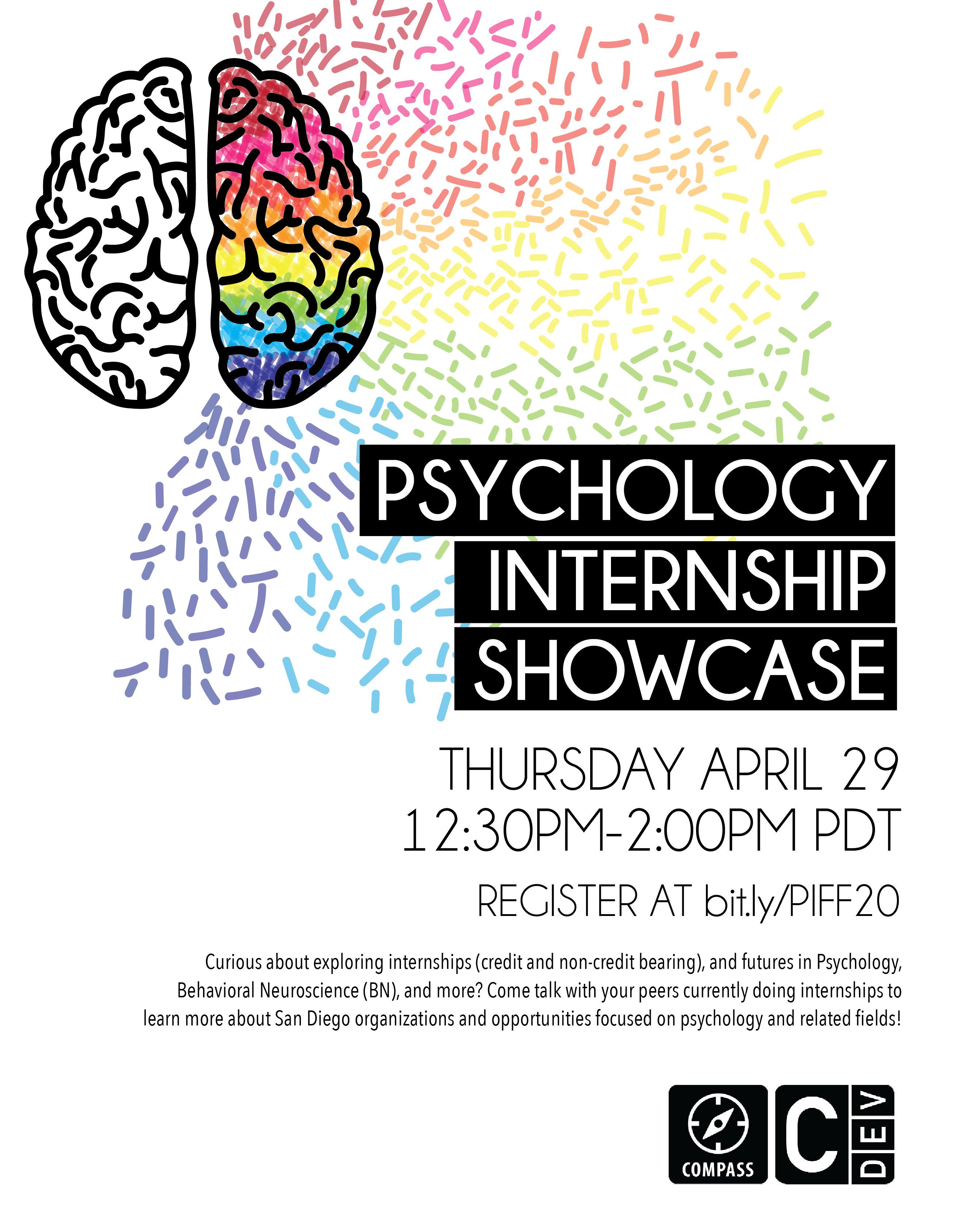 Spring Psychology Internship Showcase event flyer
