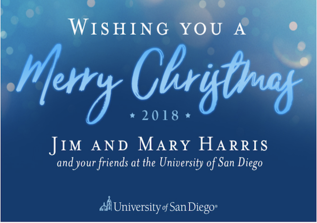 USD Christmas Card Graphic