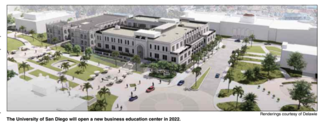 Rendering of USD's Knauss Center for Business Education