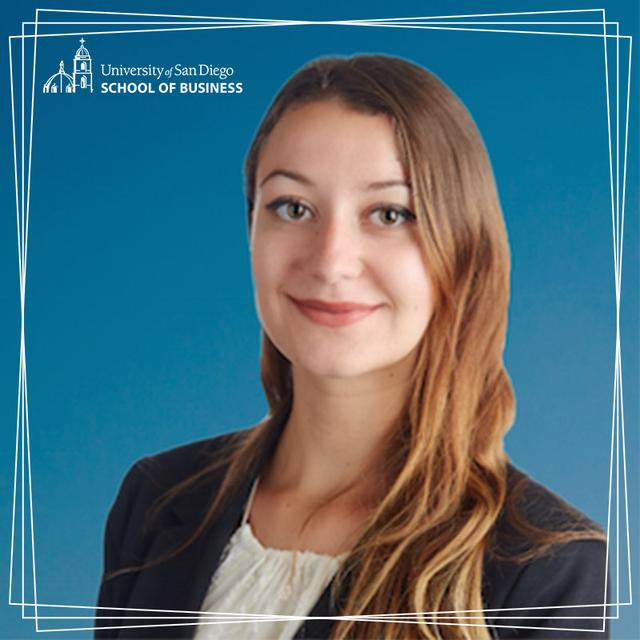USD MBA student, Anna Vincler