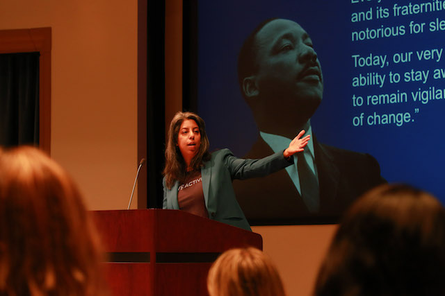Featured speaker addresses crowd at USD SOLES Non Profit Governance Symposium