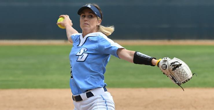 Senior Megan Sabbatini was named West Coast Conference Pitcher of the Week after striking out 17 batters in 18 innings of work. USD won two of three games against Pacific in WCC play last weekend.