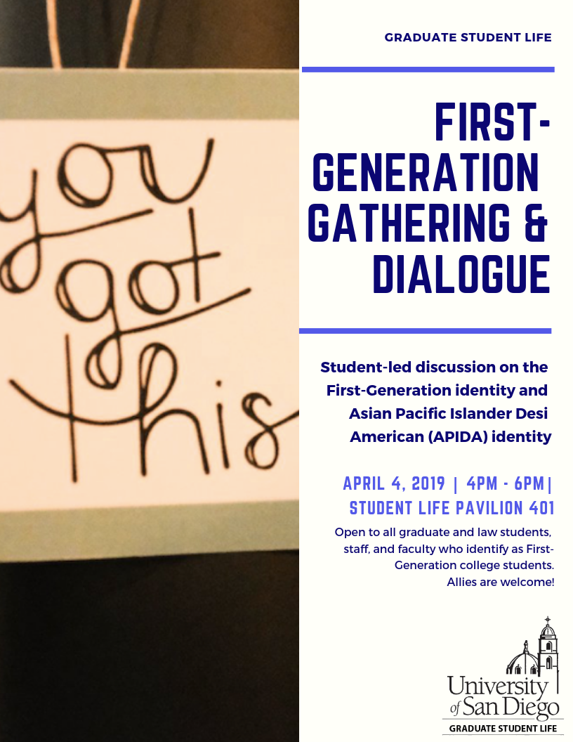 Flyer for First-Generation Gathering & Dialogue