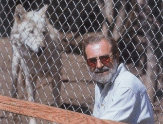 Dan Moriarty at California Wolf Center