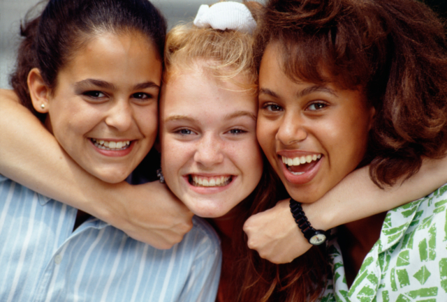 three teen girls