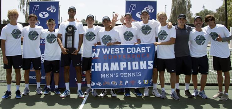 The 2018 USD men's tennis team made it five West Coast Conference Tournament titles with a 4-0 win over Loyola Marymount on April 28. The Toreros will advance to the NCAA Tournament.