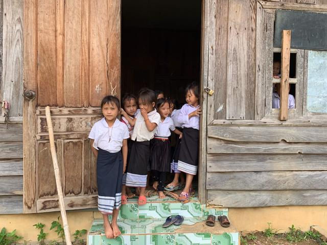 Visiting a primary school in Phonsavanh, Xieng Khuang