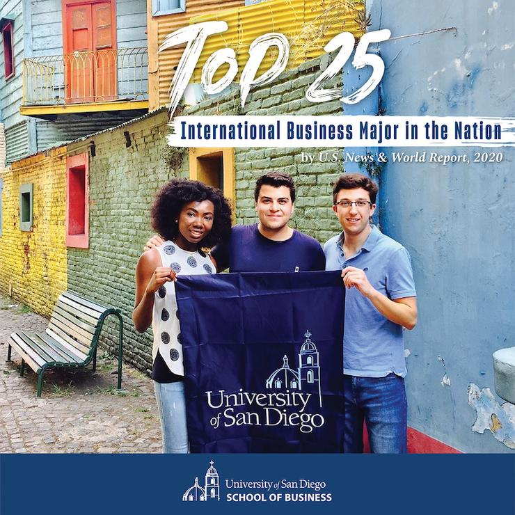 Announcement that USD's international business program is top 25 in the nation