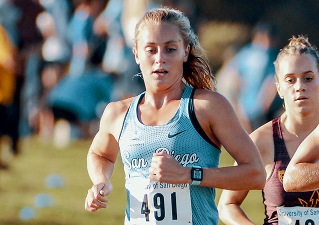 Top women's cross-country runner Hannah Rasmussen was one of 15 to notch a 4.0 GPA in Spring 2020.