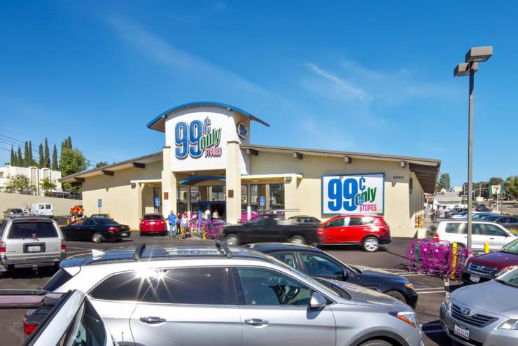 The 99 Cents Only store that was included in this real estate deal on Fletcher Parkway in San Diego
