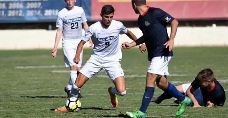 Miguel Berry scored a game-winning overtime goal against Gonzaga to help the USD men's soccer team remain unbeaten in its last six games. Berry is the WCC Player of the Week, too.