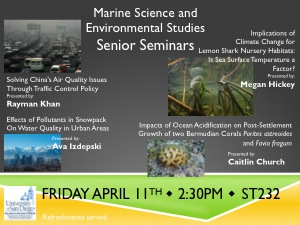 April 11th MARS/ENVI Sr. Seminar