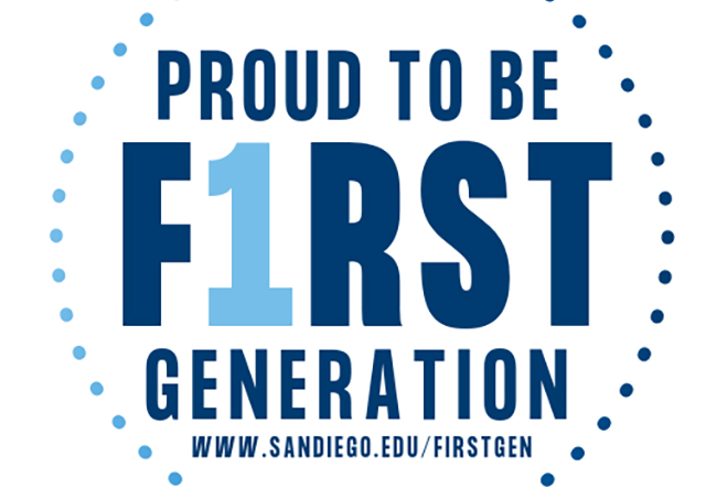 First Generation logo to recognize students, faculty, staff and alumni who identify as First-Gen.