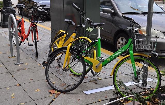 Rideshare bikes