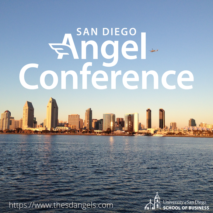 San Diego Angel Conference text over image of San Diego Bay