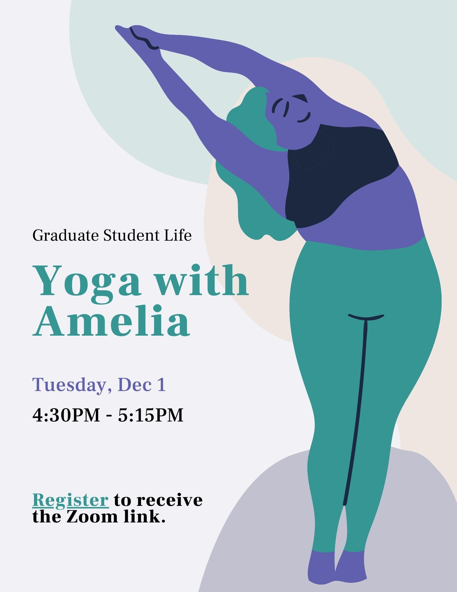 Event flyer - animated person doing yoga
