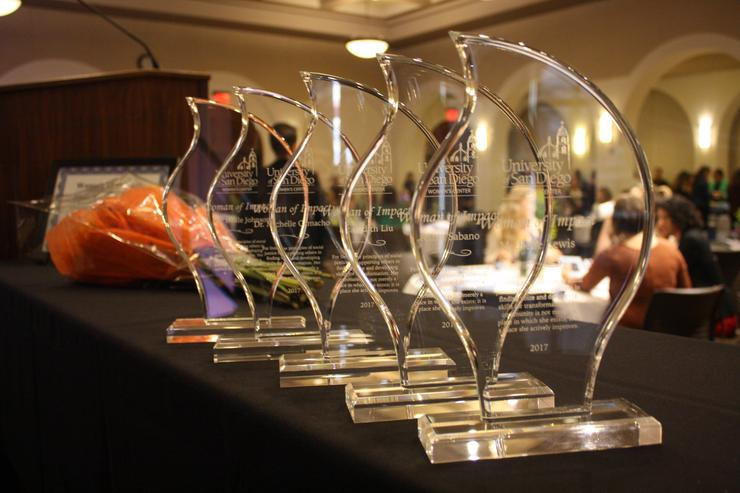 Women of Impact recipient plaques