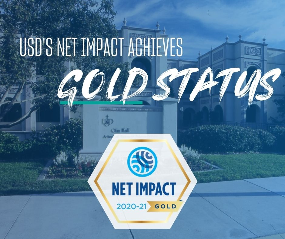 USD's Net Impact Achieves Gold Status