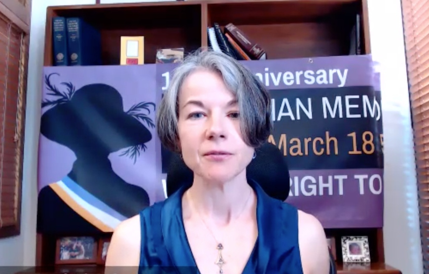 USD School of Law Professor Miranda McGowan moderated an online panel that celebrated the 100-year anniversary of the 19th�amendment that guaranteed and protected women�s constitutional right to vote.