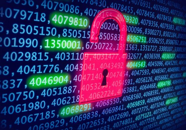 Lock on code background