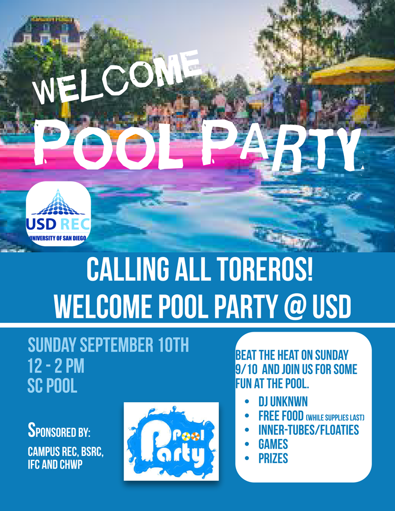 Welcome Week Pool Party