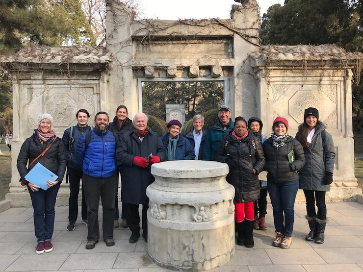 China Immersion faculty group photo outside of Matteo Ricci's tomb.